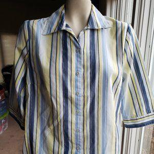 Kim Rogers 3/4 Sleeve Button-Down Shirt